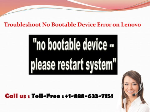 How to fix 'No Bootable Device Error on Lenovo'? by