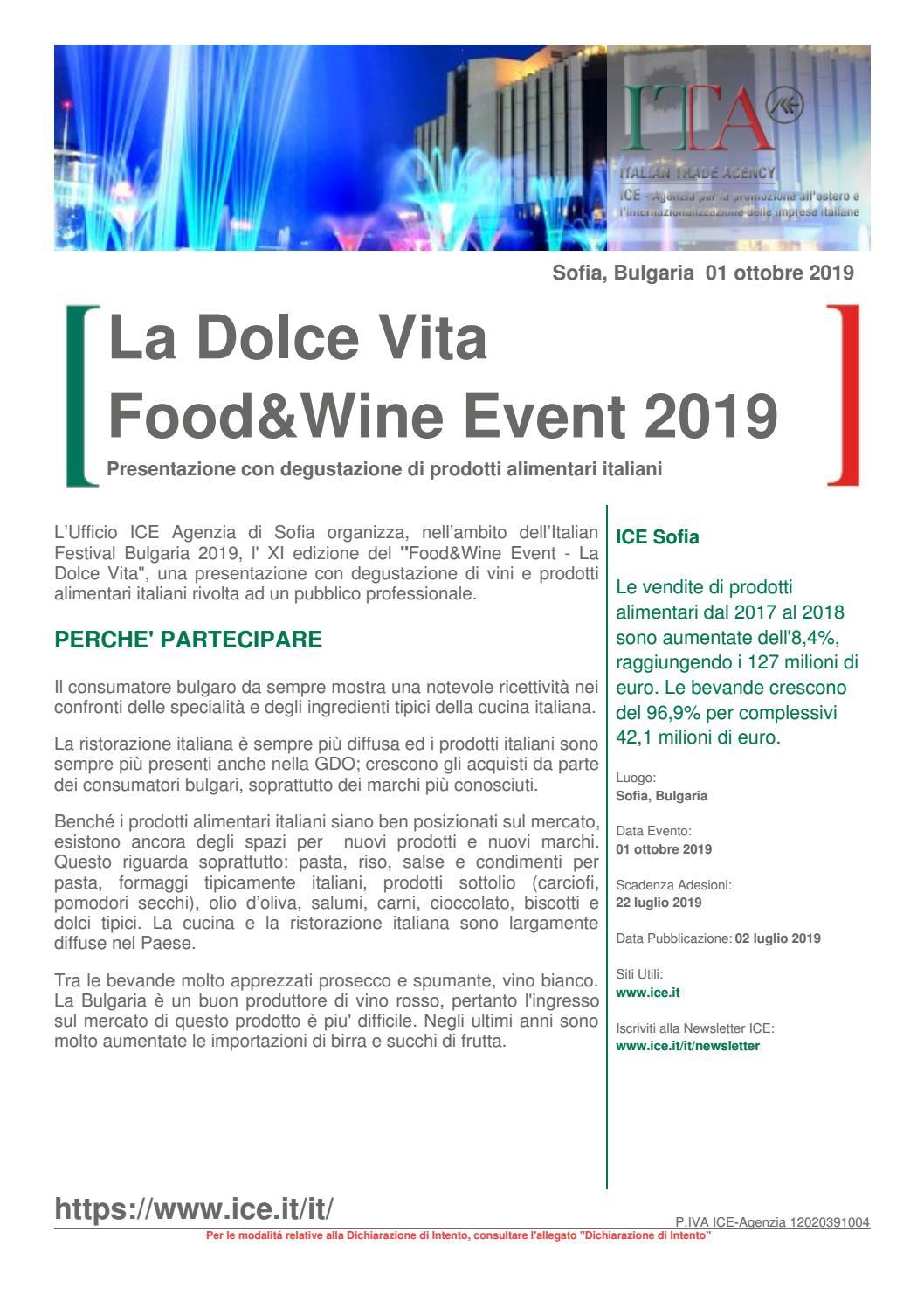 on sale a9aa1 88aab ICE Sofia - La Dolce Vita 2019 by Camera di Commercio ...