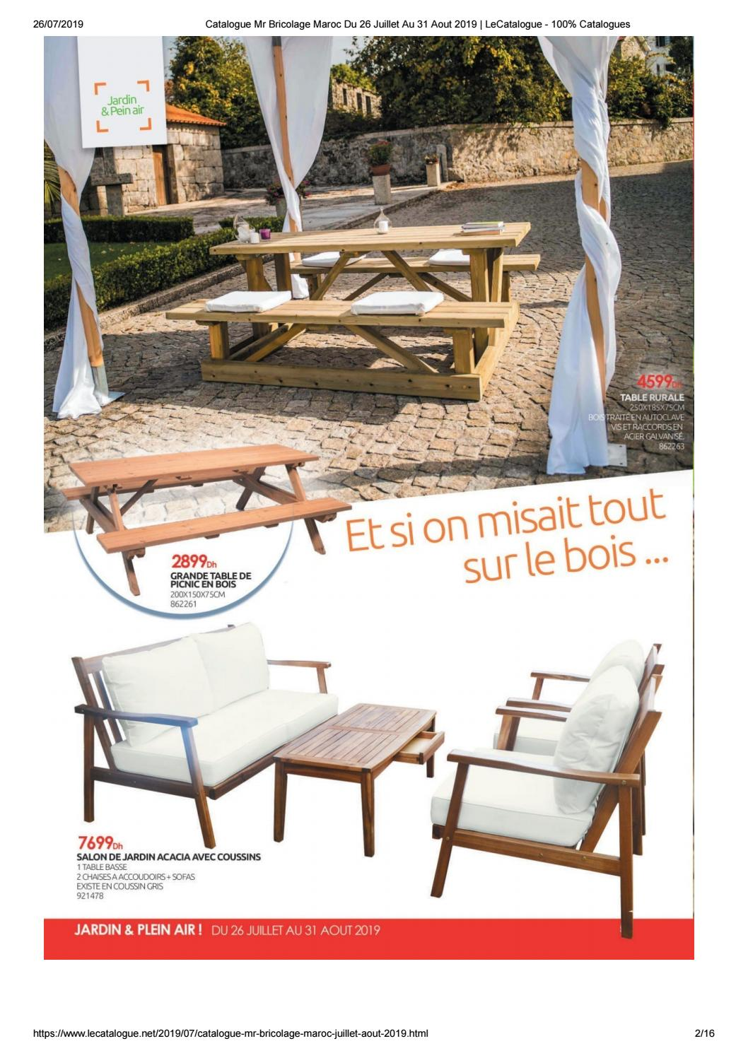 Promotion GRANDE TABLE DE PICNIC
