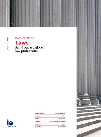 Bachelor of Laws by IE University - issuu