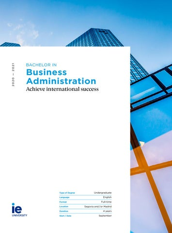 Bachelor in Business Administration by IE University - issuu