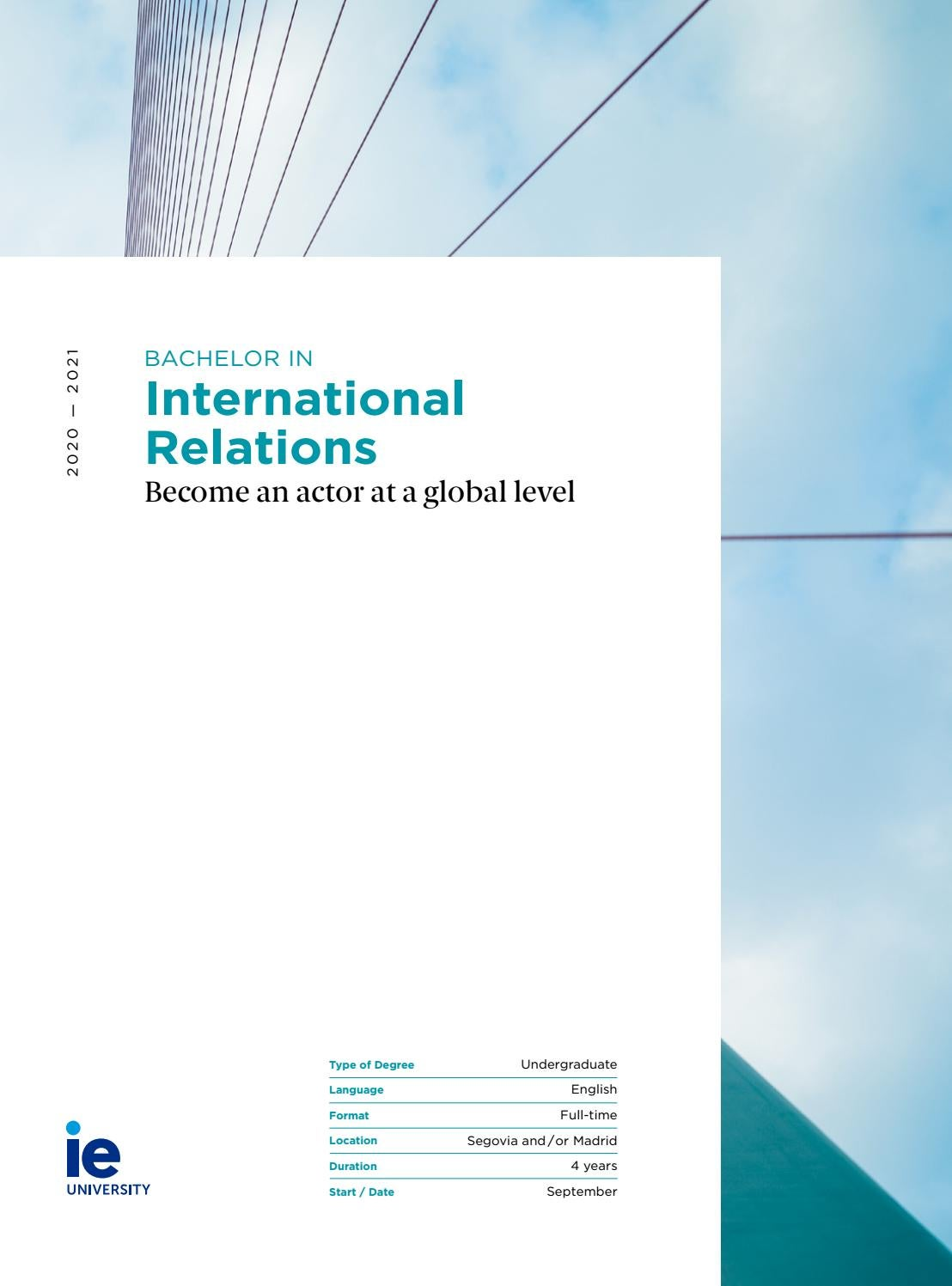 Bachelor in International Relations by IE University - issuu
