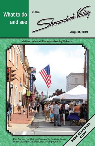 August 2019 by Shenandoah Valley Monthly Magazine - issuu