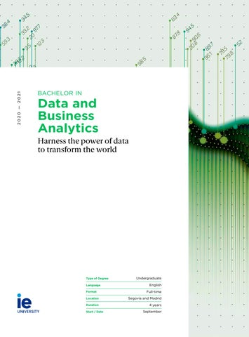 Bachelor in Data and Business Analytics by IE University - issuu