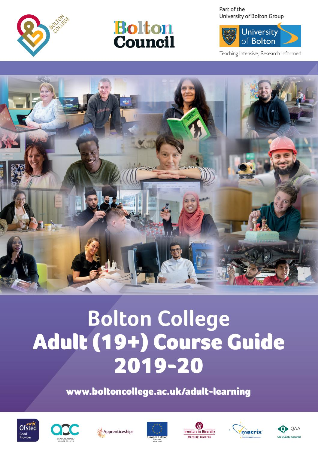 Adult Summer Guide 2019 by Bolton College - issuu