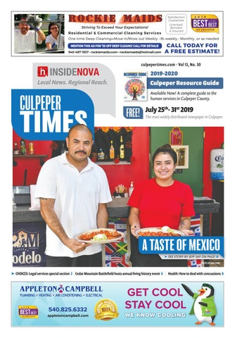 Culpeper Times | July 25-31, 2019 by InsideNoVa - issuu