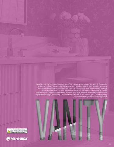 Vanity 19 20 Specification Guide By Rev A Shelf Issuu
