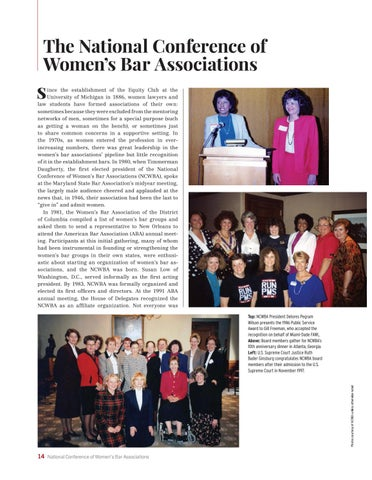 Page 18 of The National Conference of Women's Bar Associations