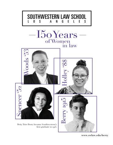 Page 68 of Southwestern Law School; Los Angeles: 150 Years of Women in Law