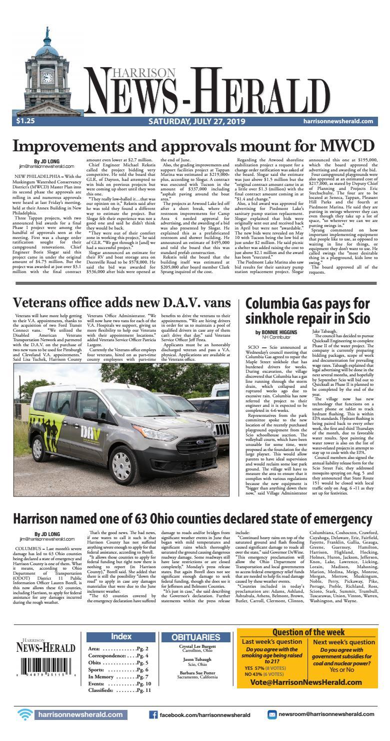 Harrison News Herald 07-27-19 by Schloss Media - issuu