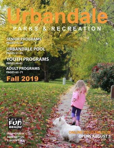 2019 Fall Program Guide by Urbandale Parks and Recreation