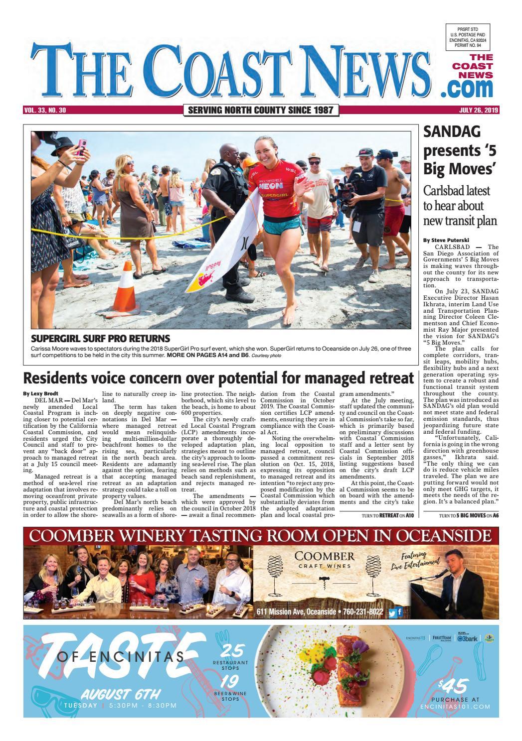 The Coast News July 26 2019 By Coast News Group Issuu