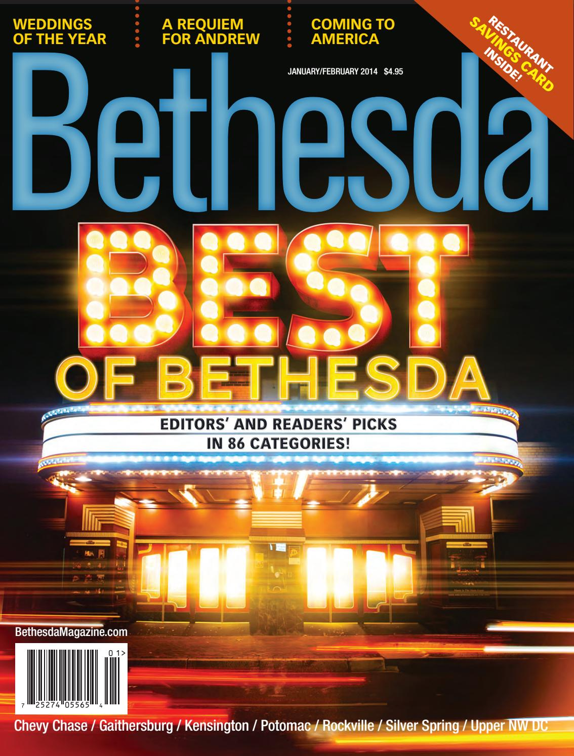 Bethesda Magazine January February 2014 By Bethesda Magazine Issuu