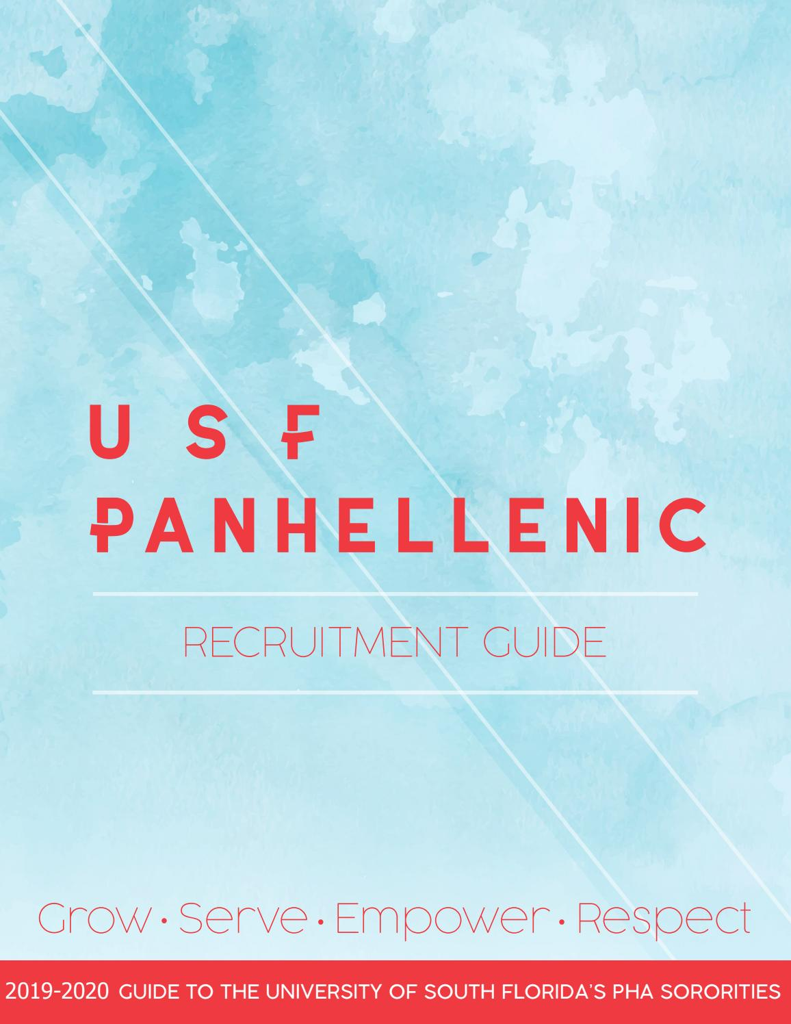 Usf Spring Break 2020.2019 Recruitment Guide By Usf Panhellenic Issuu