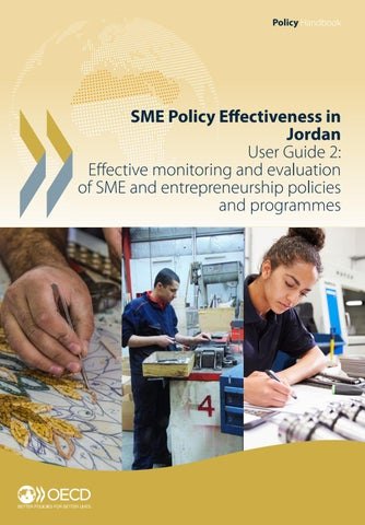 Sme Policy Effectiveness In Jordan User Guide 2 Effective Monitoring And Evaluation Of Smes By Oecd Issuu