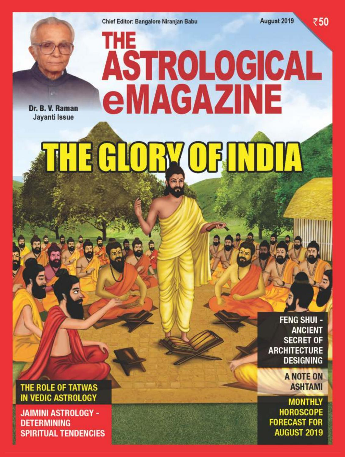 The Astrological Emagazine August 2019 By Bangalore Niranjan Babu Issuu Find all the information about love, health, money and career related to your zodiac sign in our monthly horoscope. issuu