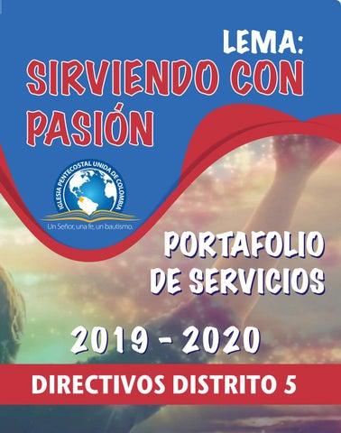 Portafolio De Servicios Ipuc Distrito 5 2019 2020 By Edgar