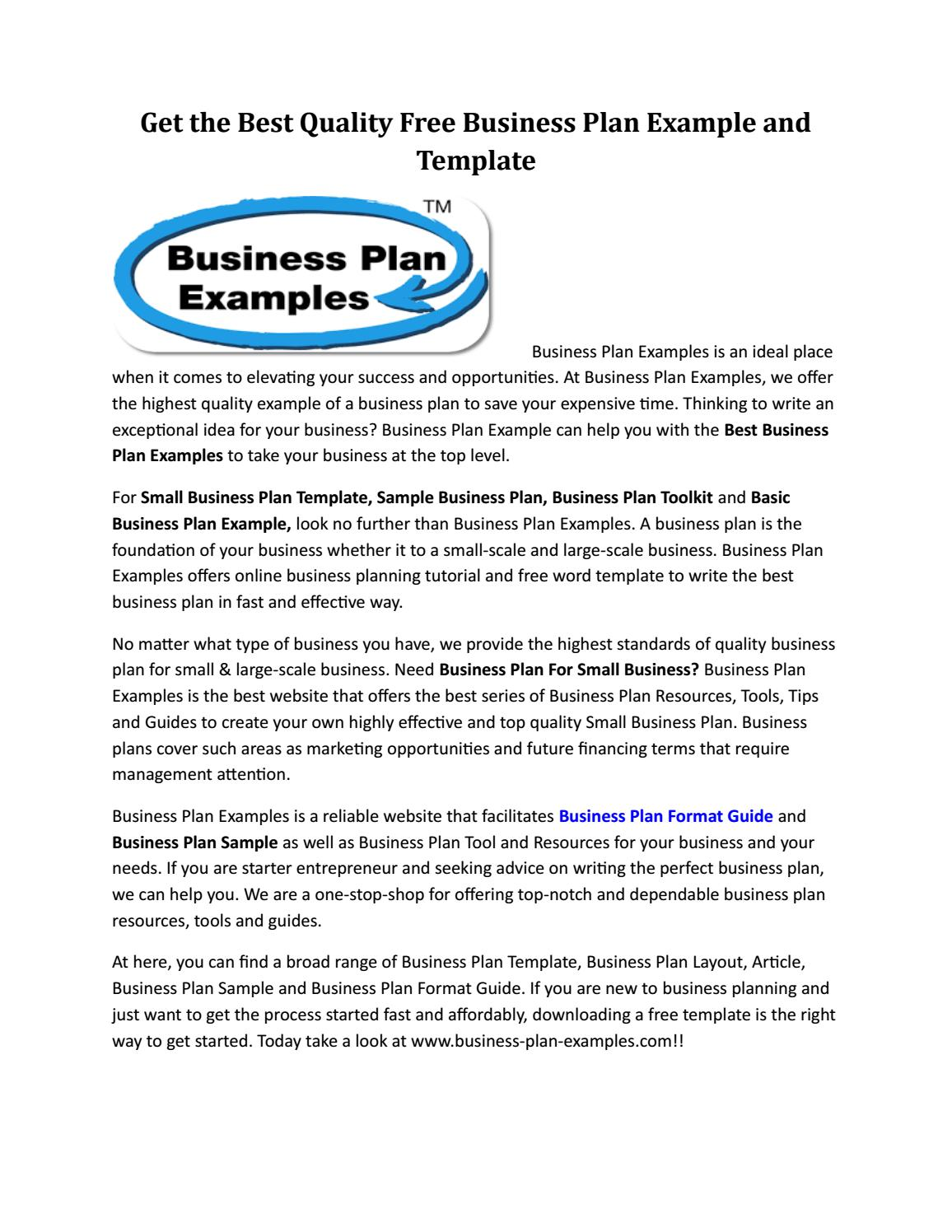 best business plan resources