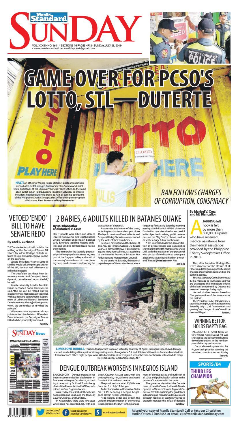 Manila Standard - 2019 July 28 - Sunday by Manila Standard