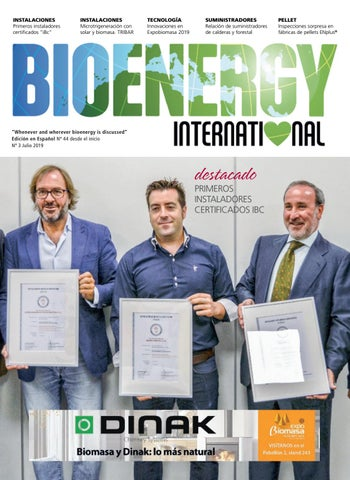 Page 1 of Bioenergy International nº44 . Verano 2019