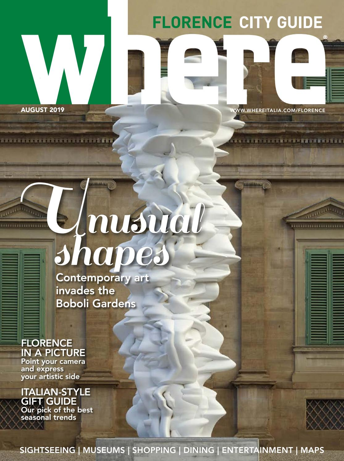 Where Magazine Florence Aug 2019 by Morris Media Network issuu