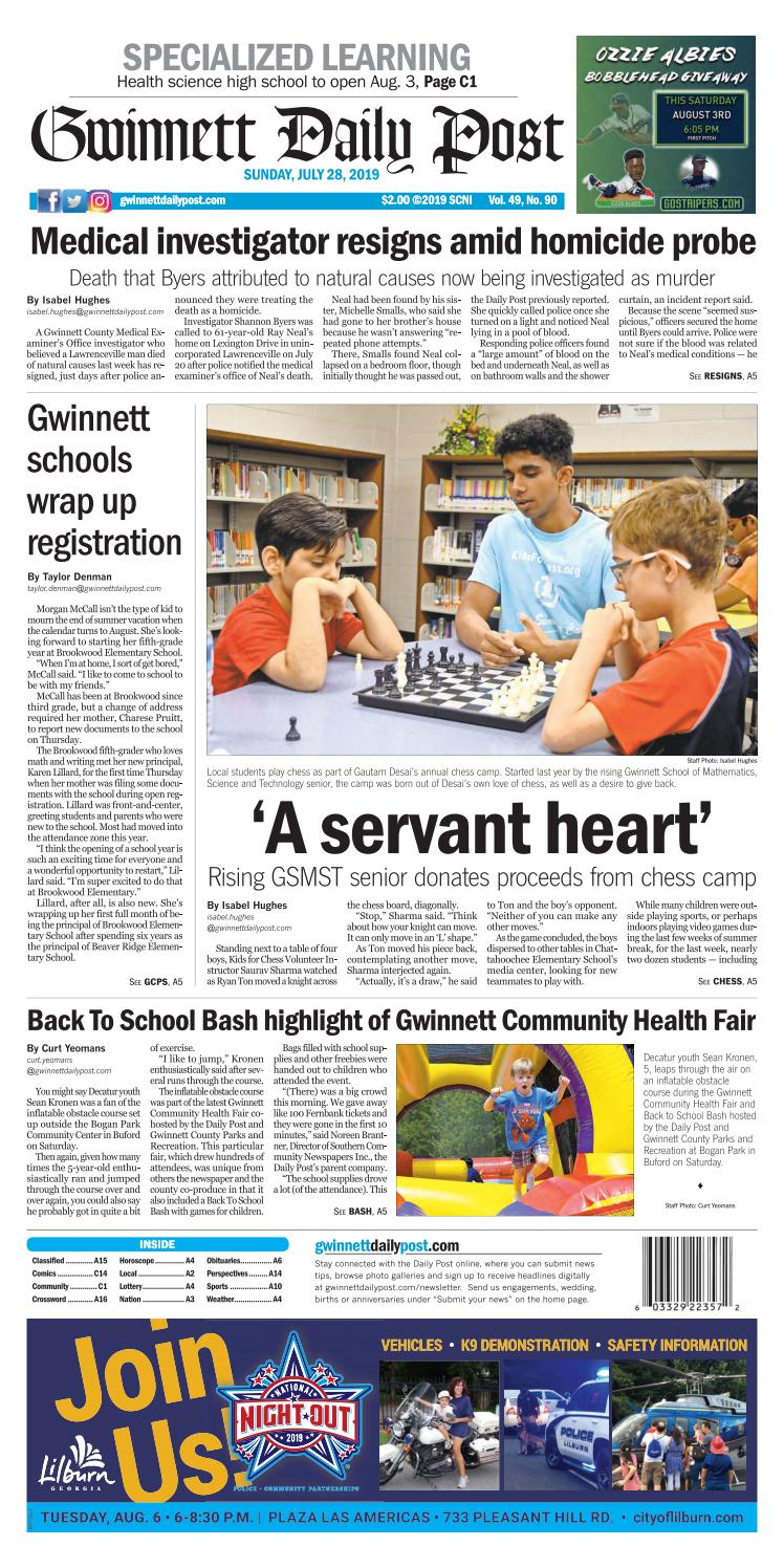 July 28, 2019 — Gwinnett Daily Post by Gwinnett Daily Post