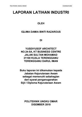 Industrial Training Final Report By Iqlima Damia Razarous Issuu
