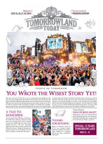 Tomorrowland Today 2019 - July by Tomorrowland - issuu