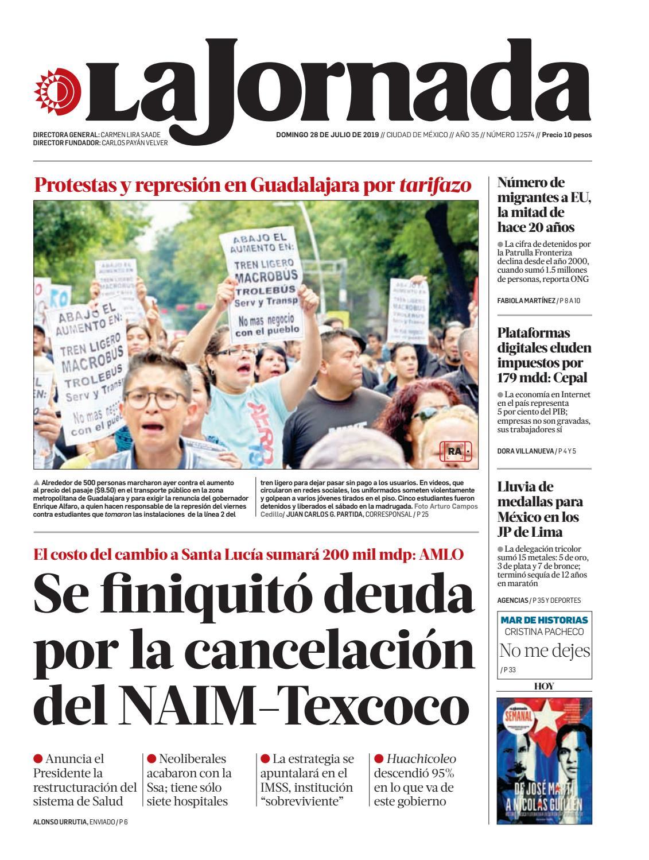 c3daa2475 La Jornada, 07/28/2019 by La Jornada - issuu