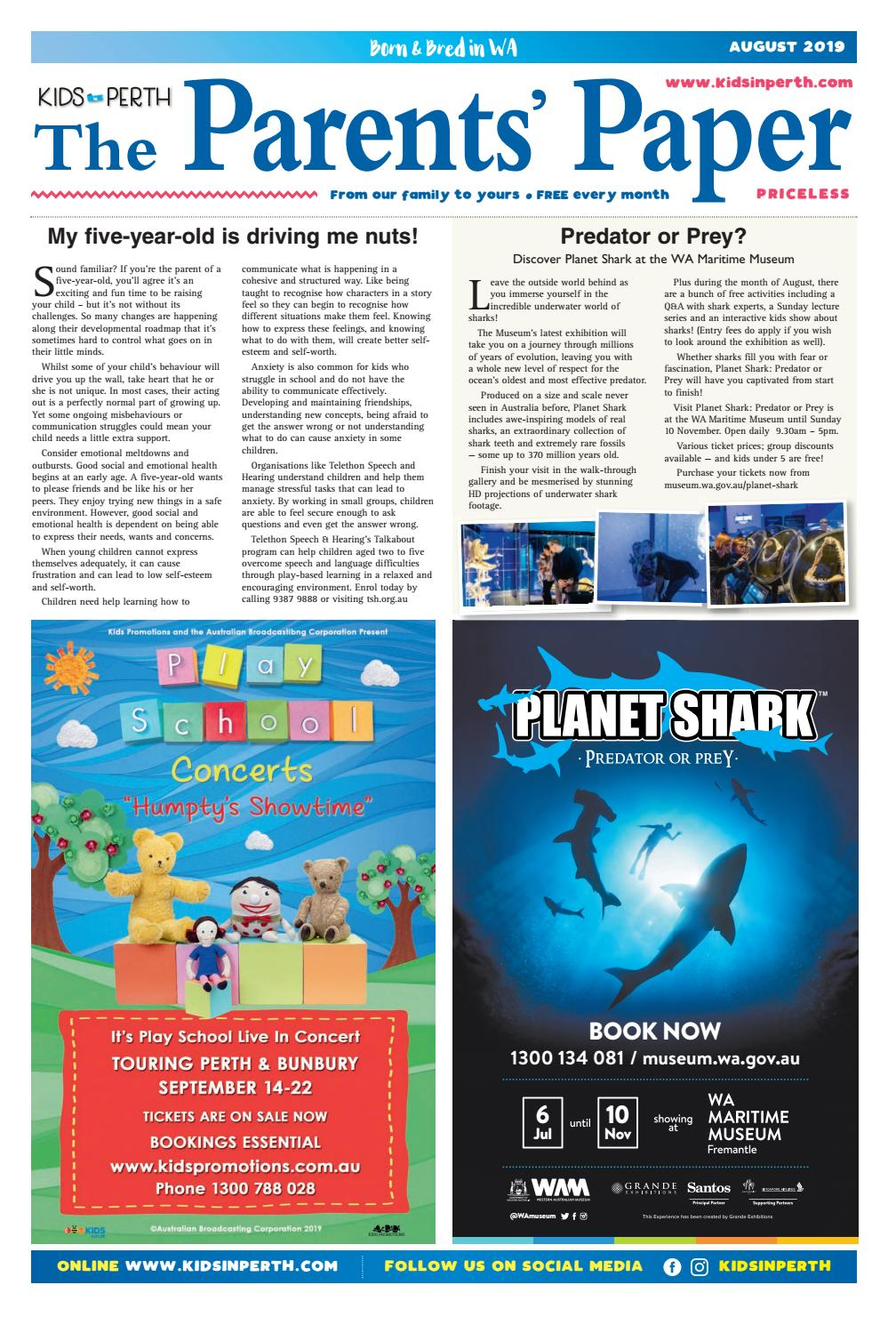 Kids in Perth - The Parents' Paper August 2019 by Kids in