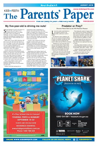 Kids in Perth - The Parents' Paper August 2019