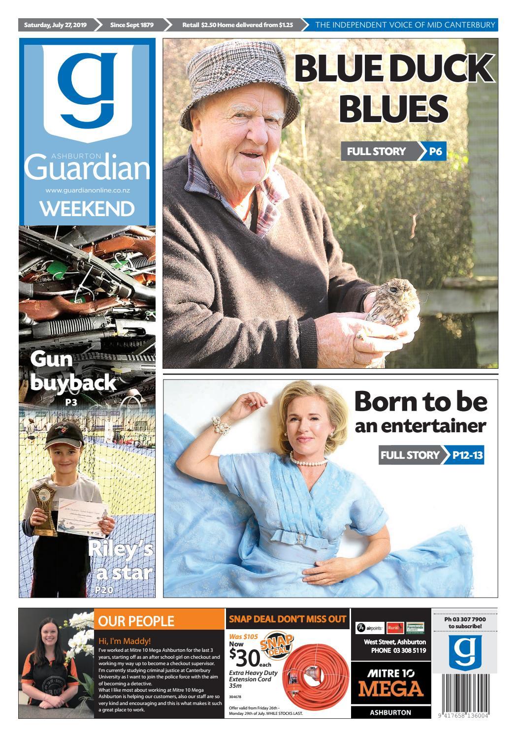 Ashburton Guardian Saturday July 27 2019 By Ashburton Guardian