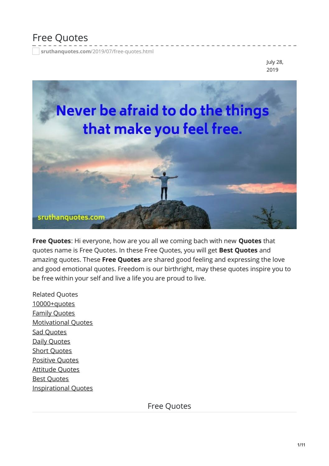 Free Quotes by sruthanquotes - issuu