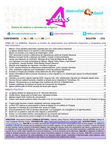 Boletín Alas Oe 313 By Boletín Alas Oe Issuu