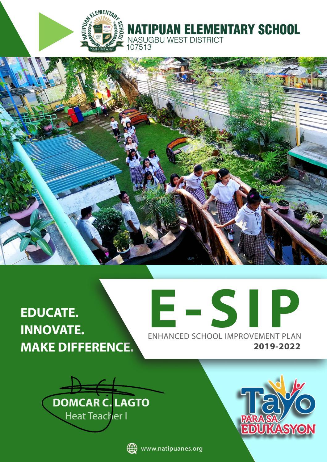 Natipuan Es School Improvement Plan By Domcar Lagro Issuu