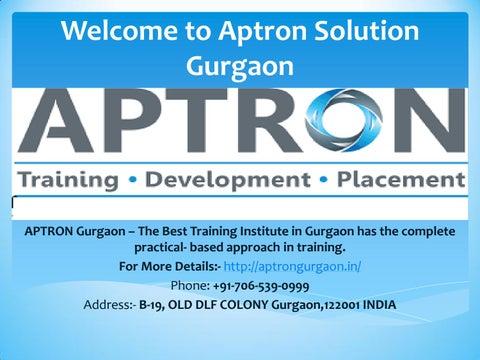 Best Training Institute in Gurgaon by Keanna Morgan - issuu