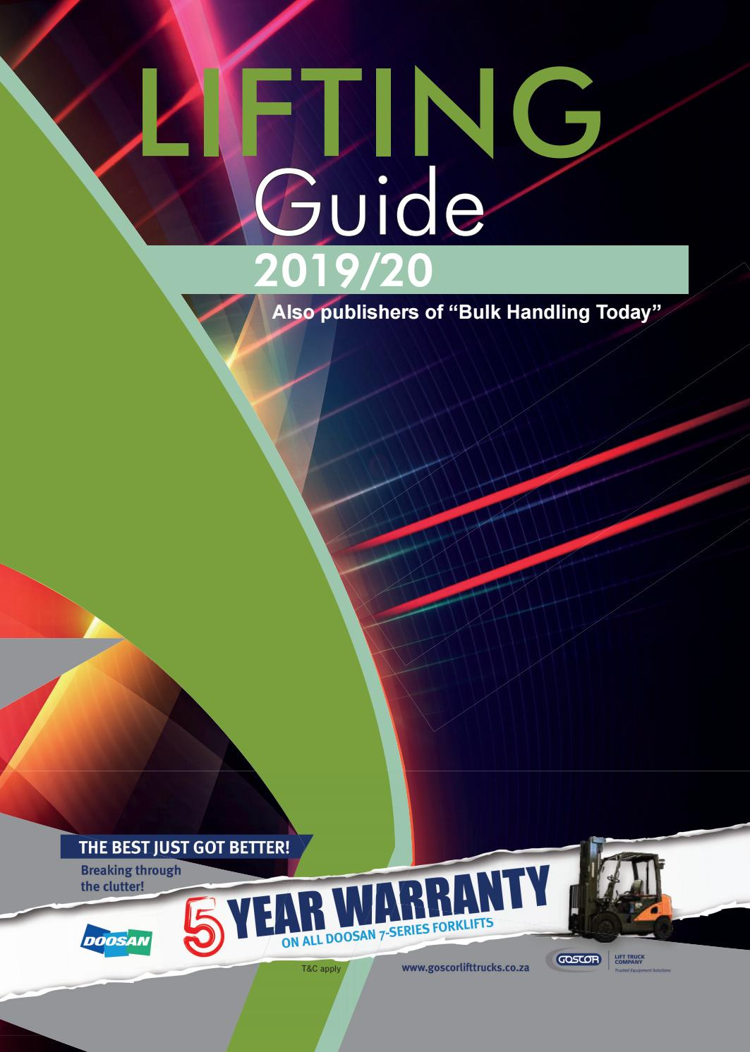 Lifting Guide 2019 2020 By Promech Publishing Issuu