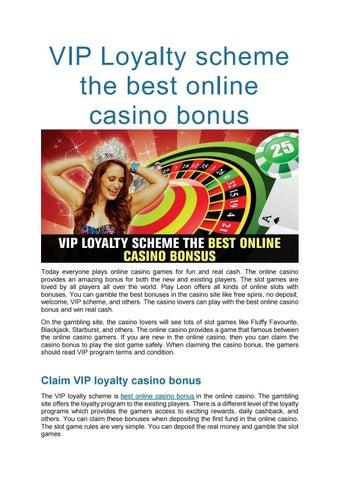 Vip Loyalty Scheme The Best Online Casino Bonus By Playleon Issuu