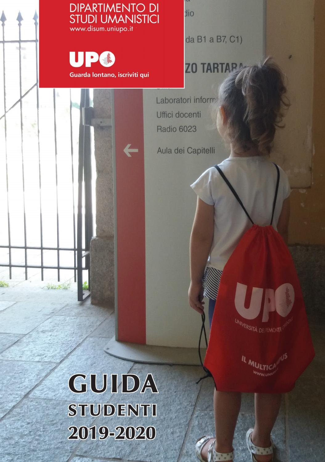 Disum Calendario Esami.Guida Studenti Disum 2019 2020 By Universita Del Piemonte