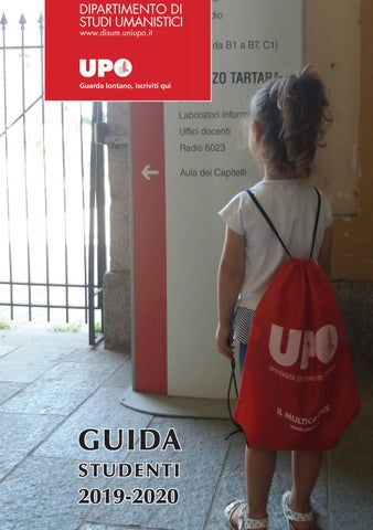Cristina Del Basso Calendario 2020.Guida Studenti Disum 2019 2020 By Universita Del Piemonte