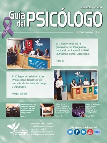 Guía Del Psicólogo Mes De Julio 2019 By Colegio Oficial De