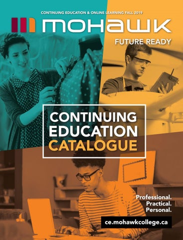 Mohawk College Continuing Education Catalogue Fall 2019 by Mohawk