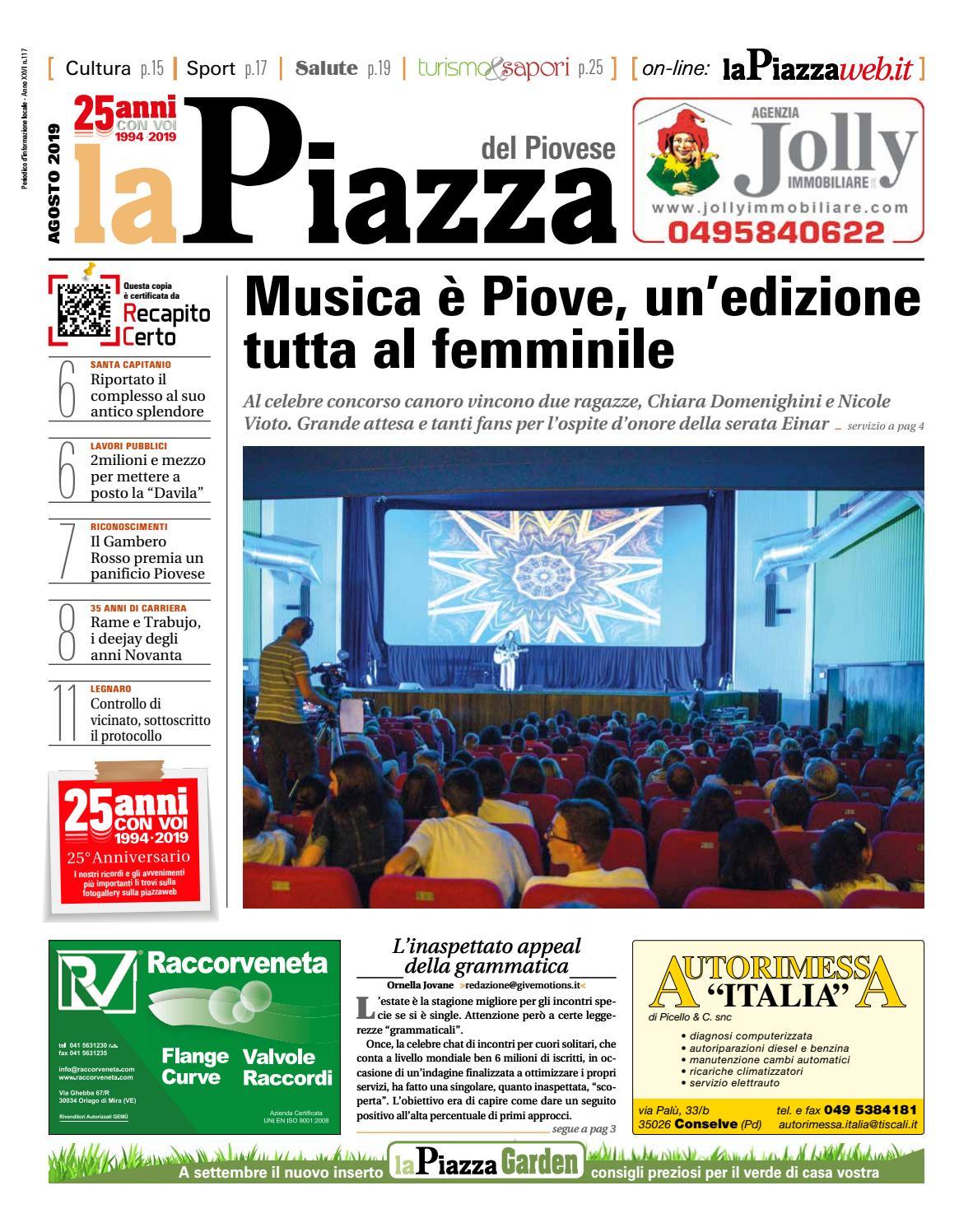 Servizi Sicurezza Italia Poviglio piovese ago2019 n117 by lapiazza give emotions - issuu