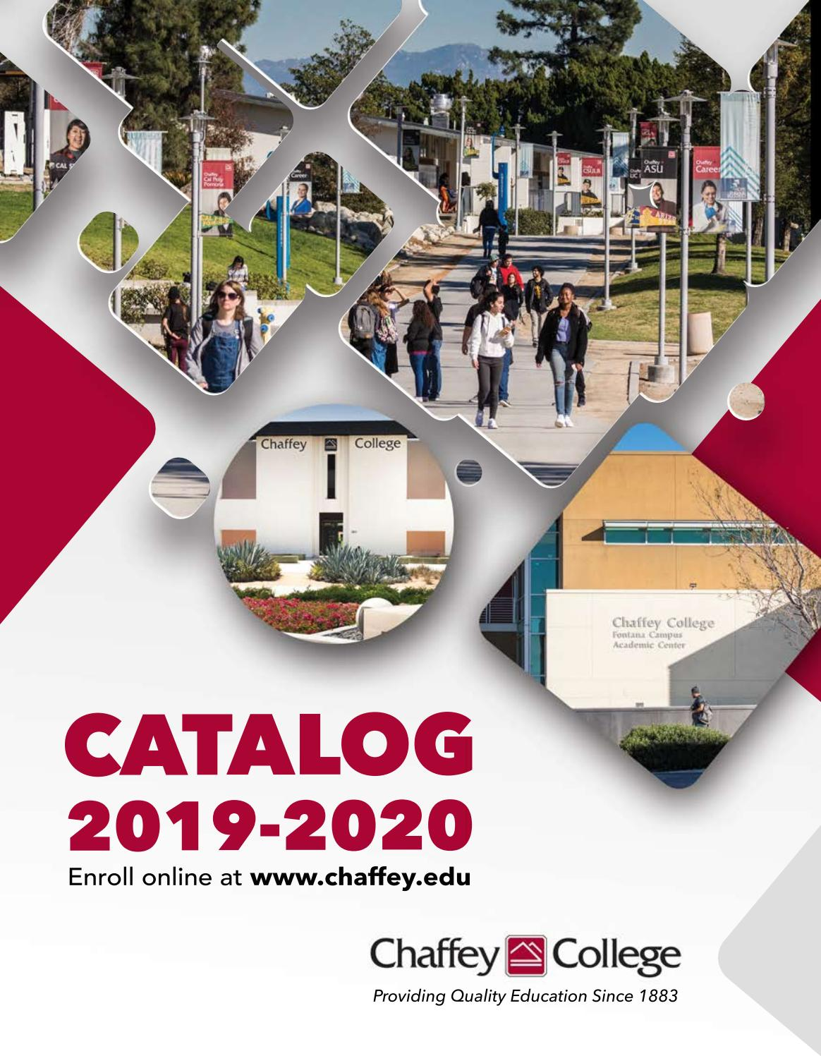 Chaffey College Catalog 2019 - 2020 by Chaffey College - issuu