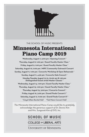 Minnesota International Piano Camp 2019
