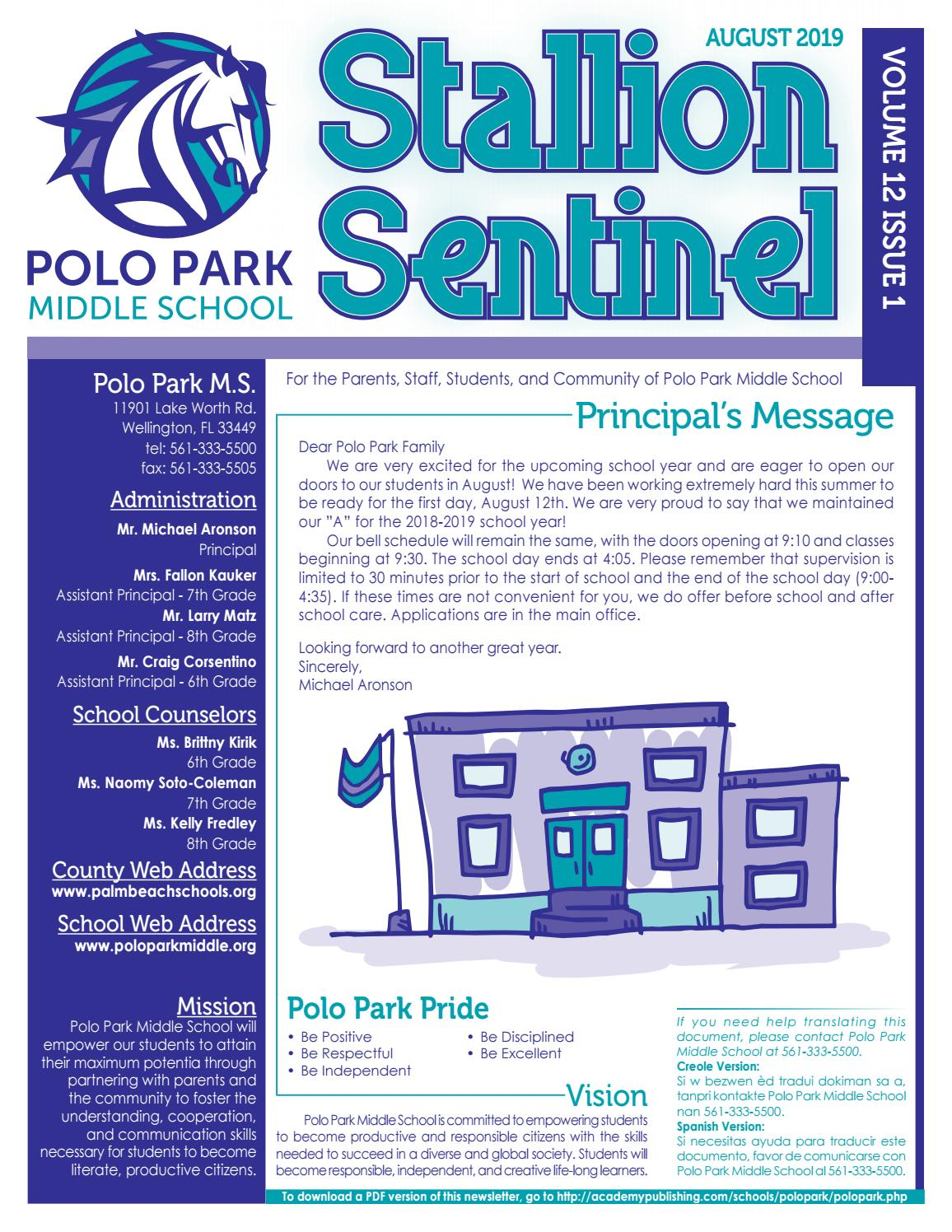 Polo Park Middle School by Academy Publishing, Inc  - issuu