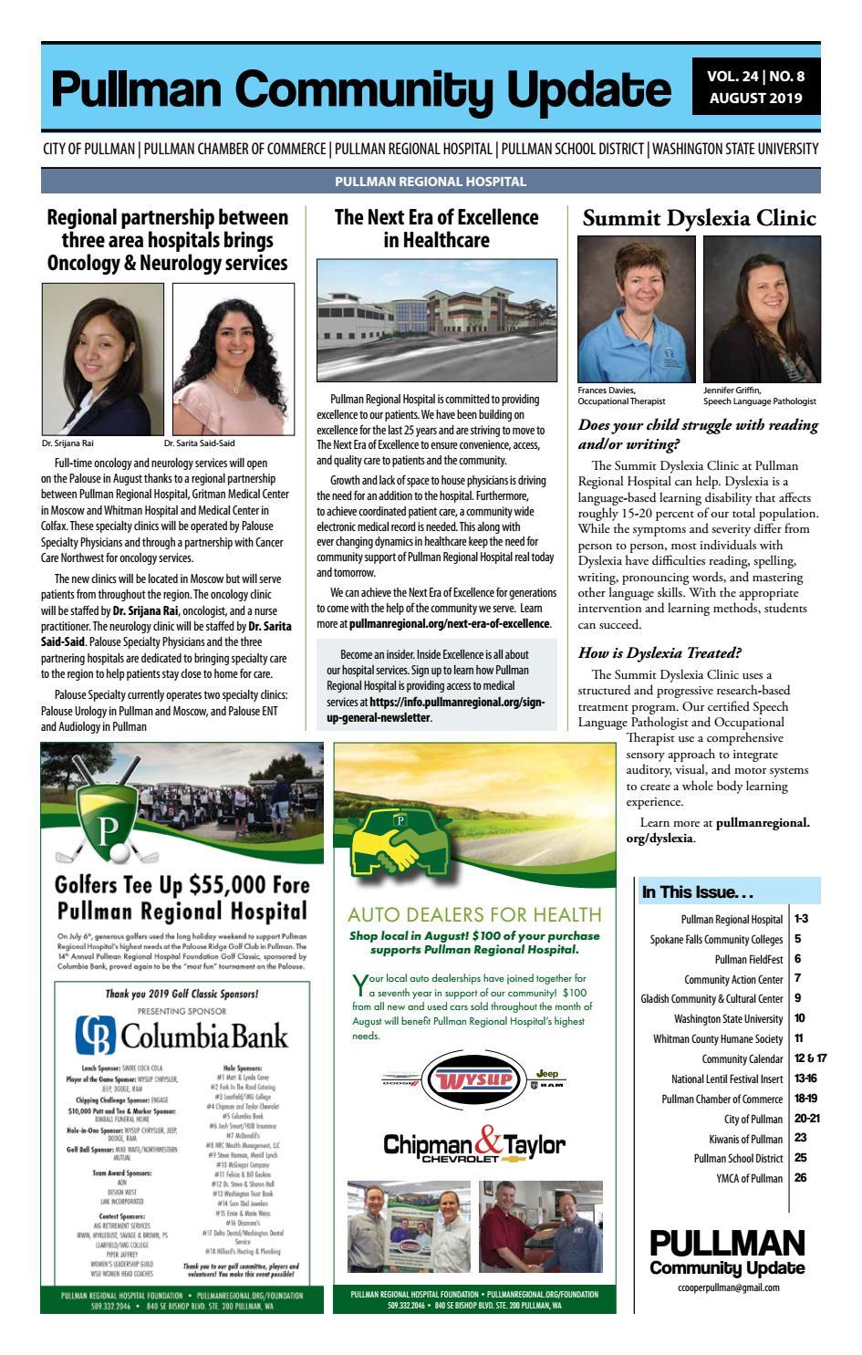 Pullman Community Update August 2019 by Hannah Crawford - issuu