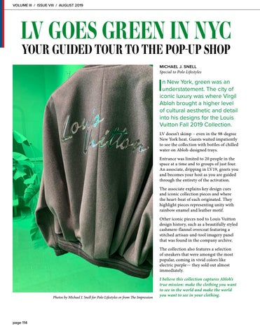 Page 114 of Louis Vuitton Goes Green in NYC