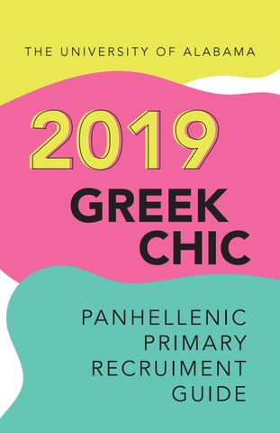 University Of Alabama Greek Chic 2019 By Alabama Panhellenic