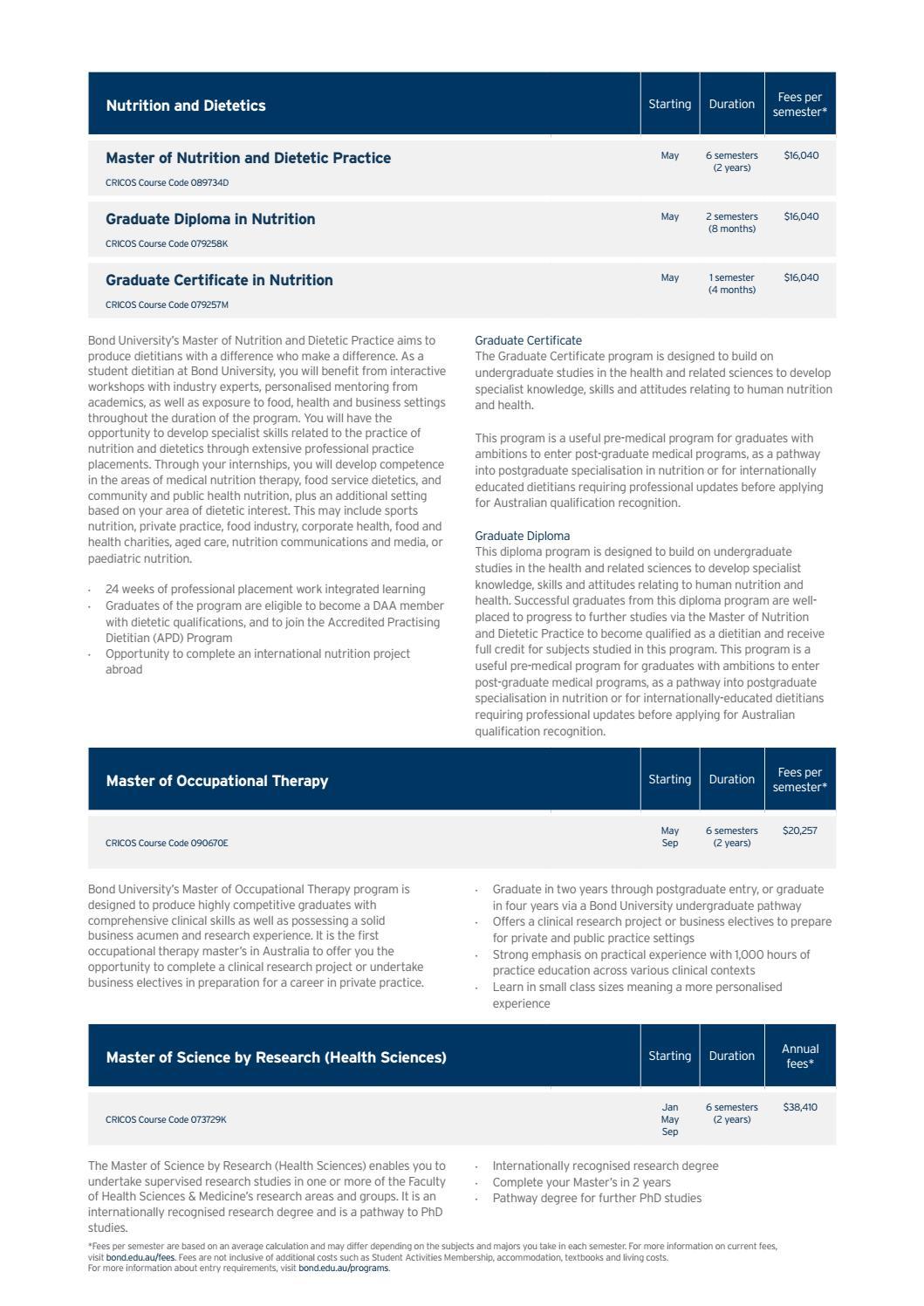 Bond University Domestic Postgraduate Guide 2020 by Bond